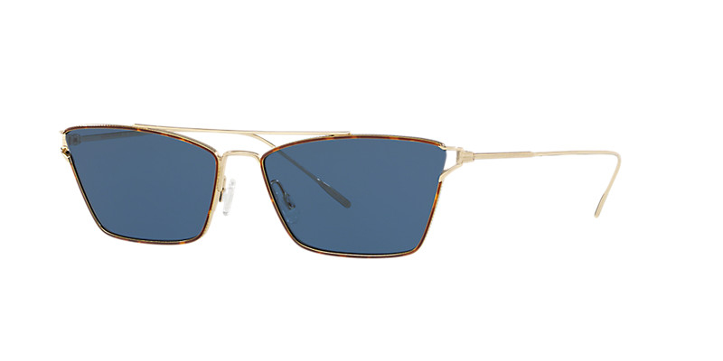 Oliver People's - Occhiale da Sole Donna, Evey, Soft Gold/Blue Shaded OV1244S 5283/80 C59