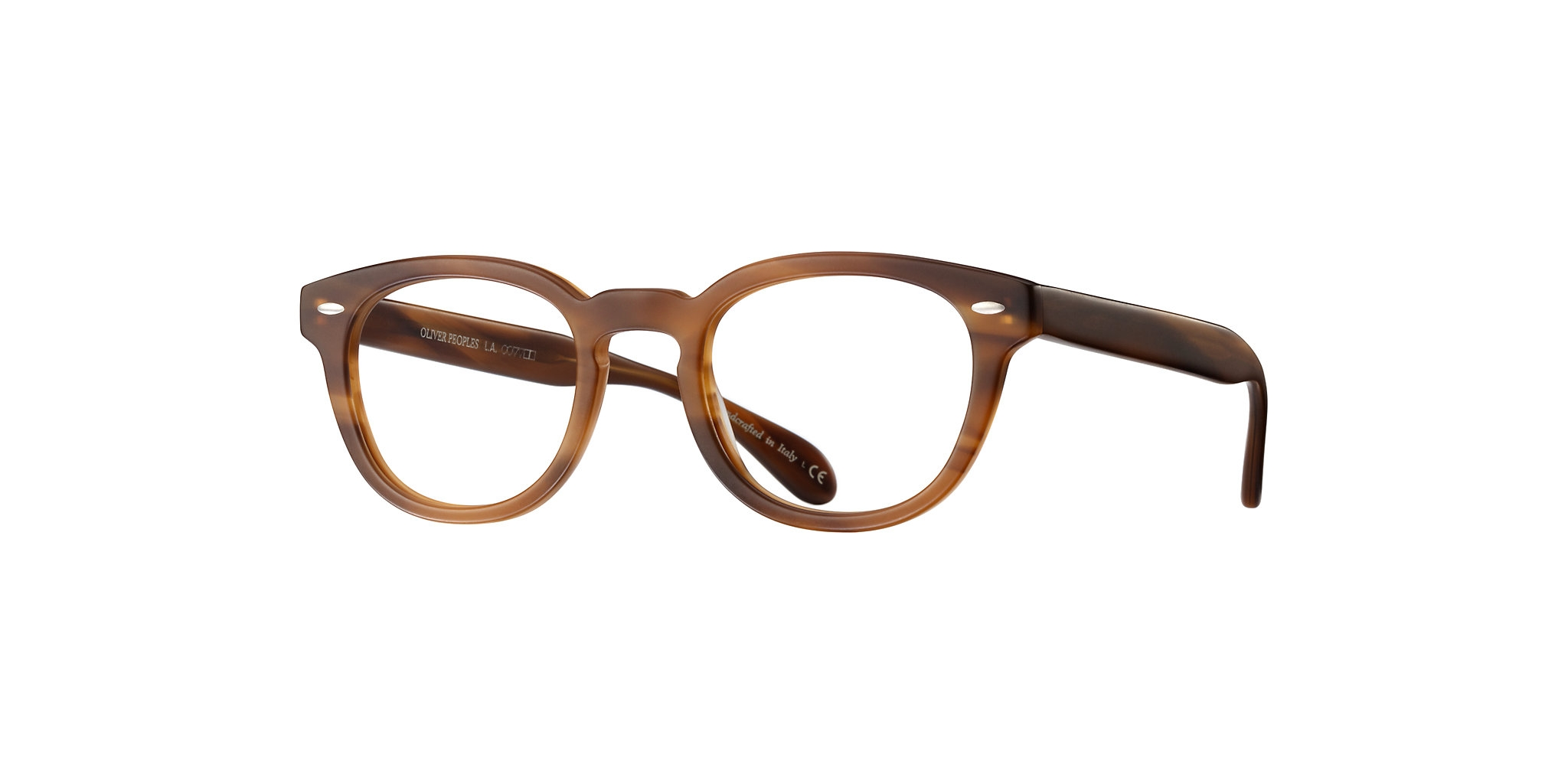 Oliver People's - Occhiale da Vista Uomo, Sheldrake, Semi-matte Raintree/Light Brown OV5036 1579 C49
