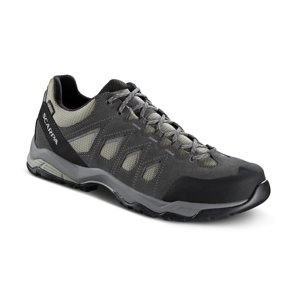 eba8dae15c9 MORAINE GTX Protective for hiking on mixed terrains, waterproof Lichen  Green-Storm Gray-Gray