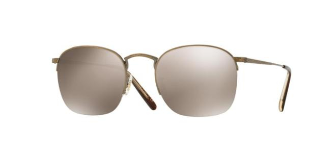 Oliver People's - Occhiale da Sole Unisex, Rickman, Antique Gold/Taupe Flash OV1209S 5039/5A  C51