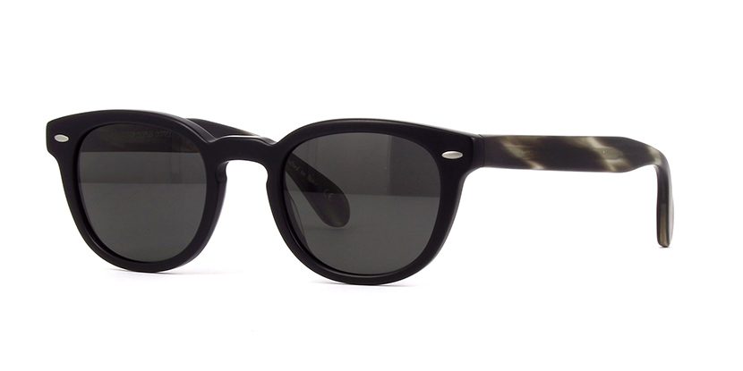 Oliver People's - Occhiale da Sole Unisex, Sheldrake Sun, Semi-Matte Black Ebonywood/Midnight Express Polarized OV5036S 1570/P2  C47