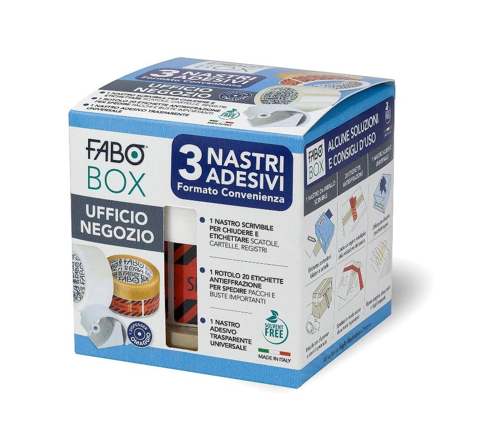 FABO BOX UFFICIO NEGOZIO 3 nastri adesivi formato convenienza