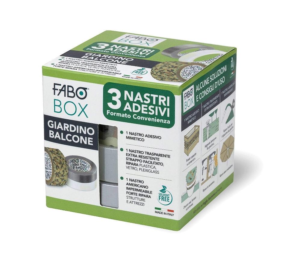 FABO BOX GIARDINO BALCONE 3 nastri adesivi formato convenienza