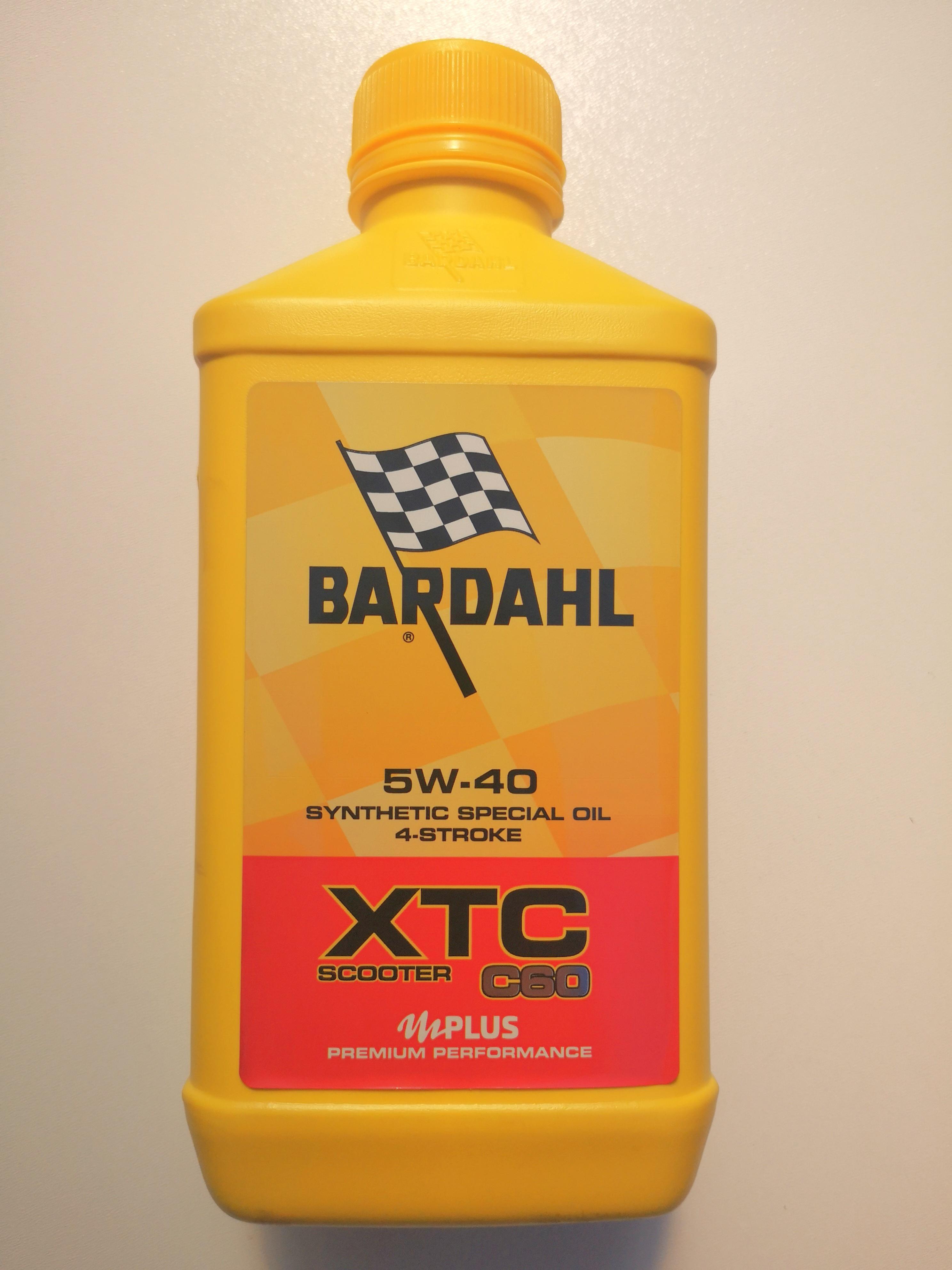 OLIO MOTORE BARDAHL XTC C60 per MOTO e SCOOTER 4 TEMPI SAE 5W40 - MOTOFORNITURE GF
