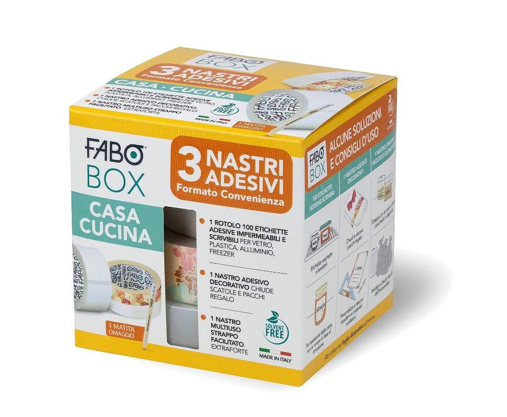 FABO BOX CASA CUCINA 3 nastri adesivi formato convenienza