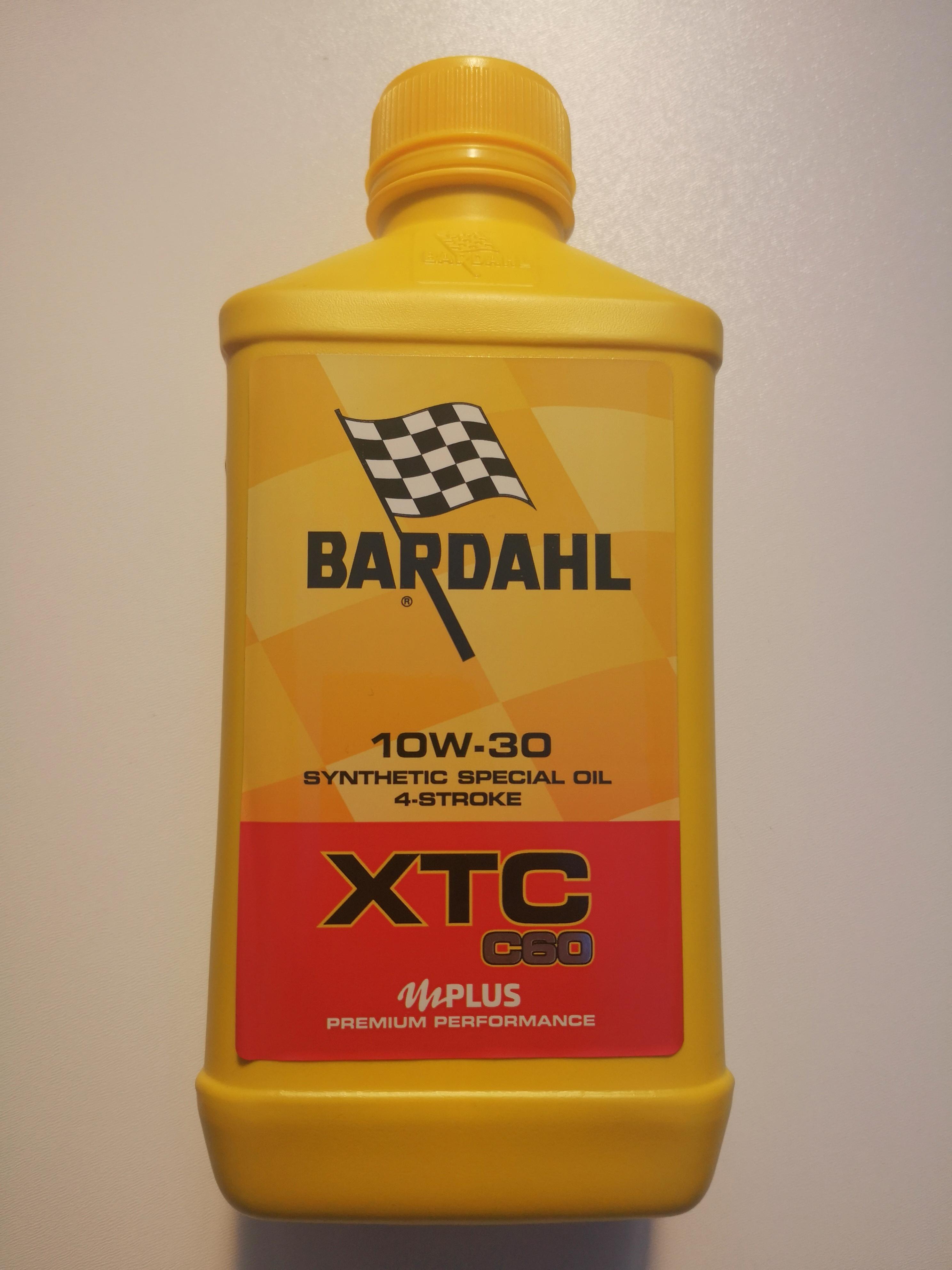 OLIO MOTORE BARDAHL XTC C60 per MOTO e SCCOTER 4 TEMPI BASE SINTETICA SAE10W30