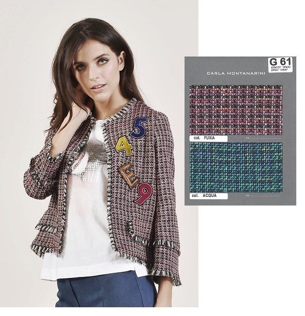 Giacca chanel con patch