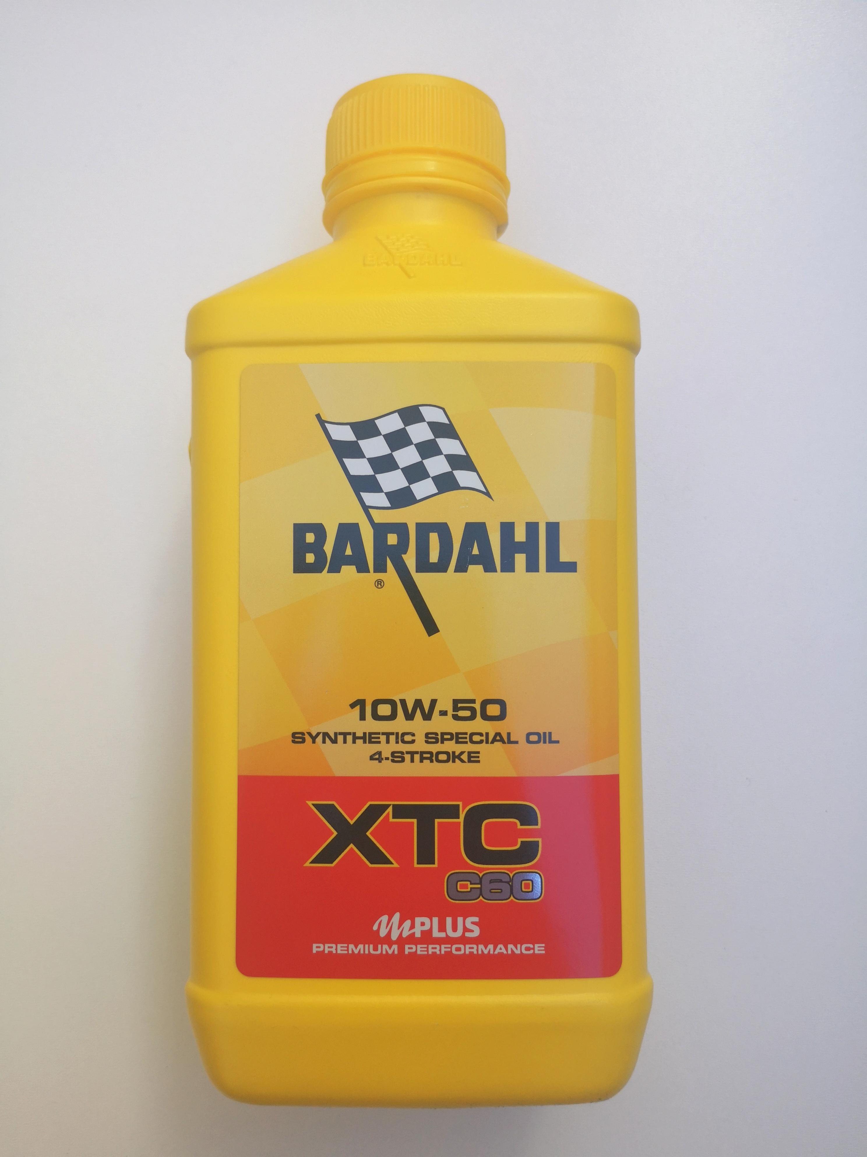 BARDAHL XTC C60 per MOTO e SCOOTER 4 TEMPI  - 100% SINTETICO  SAE 10W50 - MOTOFORNITURE GF