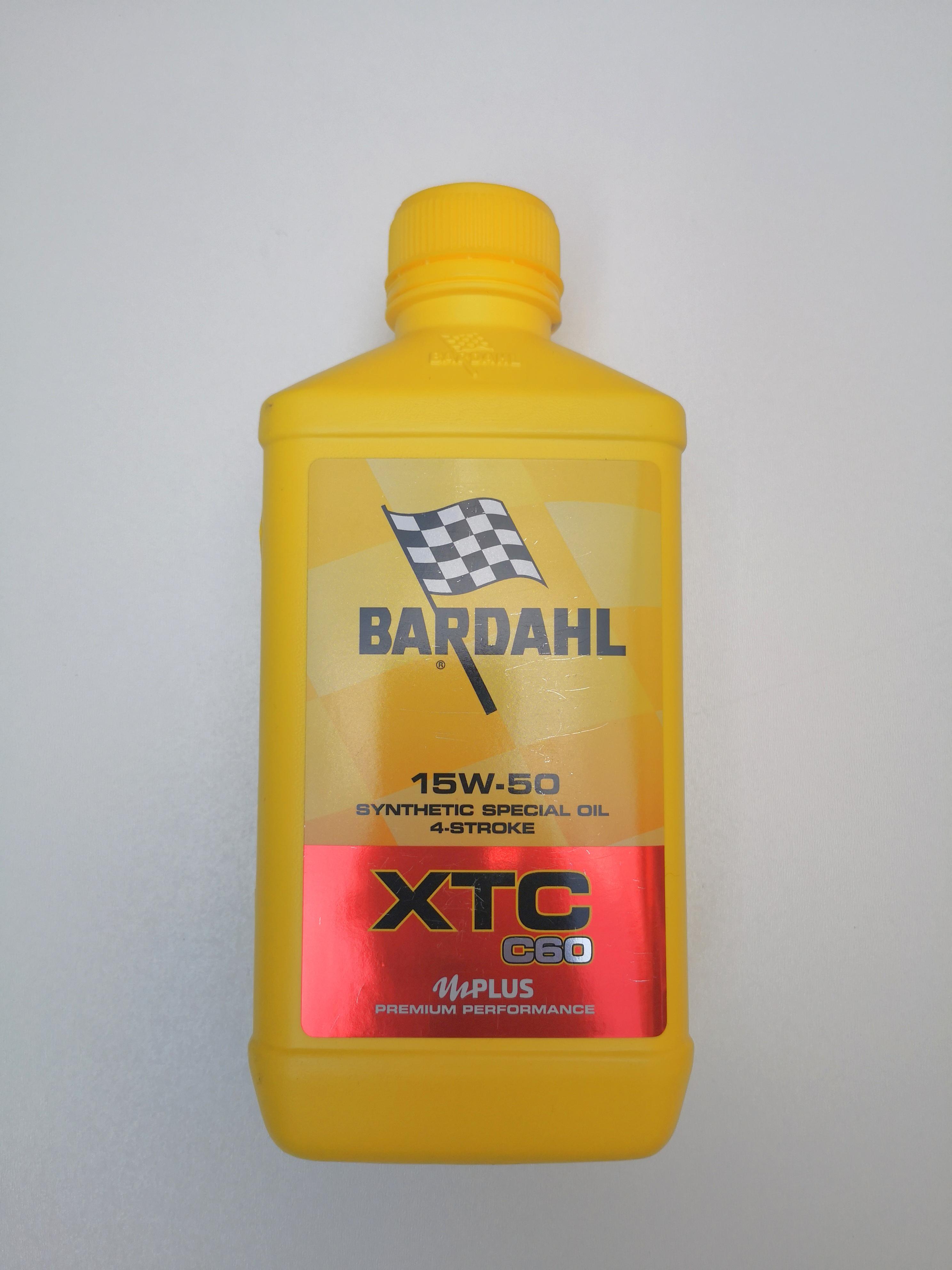 OLIO MOTORE BARDAHL XTC C60 per MOTO e SCCOTER 4 TEMPI  - BASE SINTETICA  SAE15W50 - MOTOFORNITURE GF
