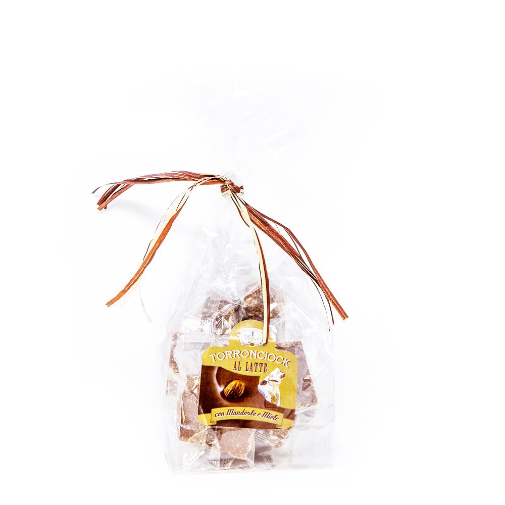 Torroncicock latte – Cioccolato latte con torrone alle mandorle – 200 g
