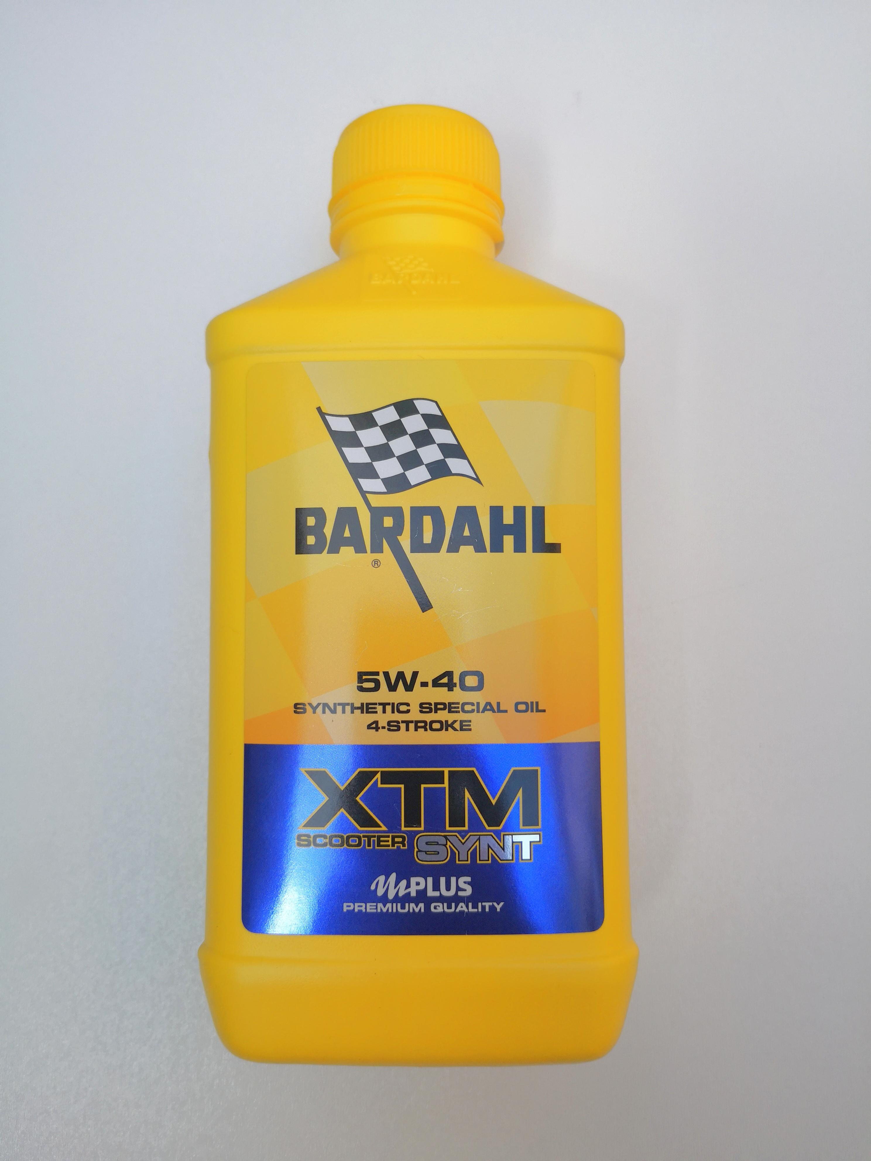 OLIO MOTORE BARDAHL XTM SYNT per MOTO e SCOOTER 4 TEMPI  - SEMISINTETICO  SAE 5W40 - MOTOFORNITURE GF