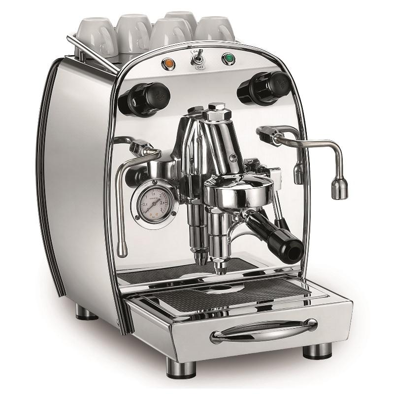 Macchina per caffè espresso 1 gruppo. Modello Royal Reale. Linea casa e ufficio+ kit connessione alla rete idrica