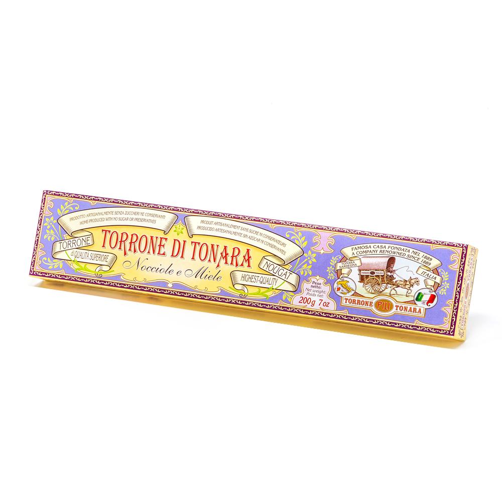 Scatola America – Stecca torrone nocciole e miele – 200 g
