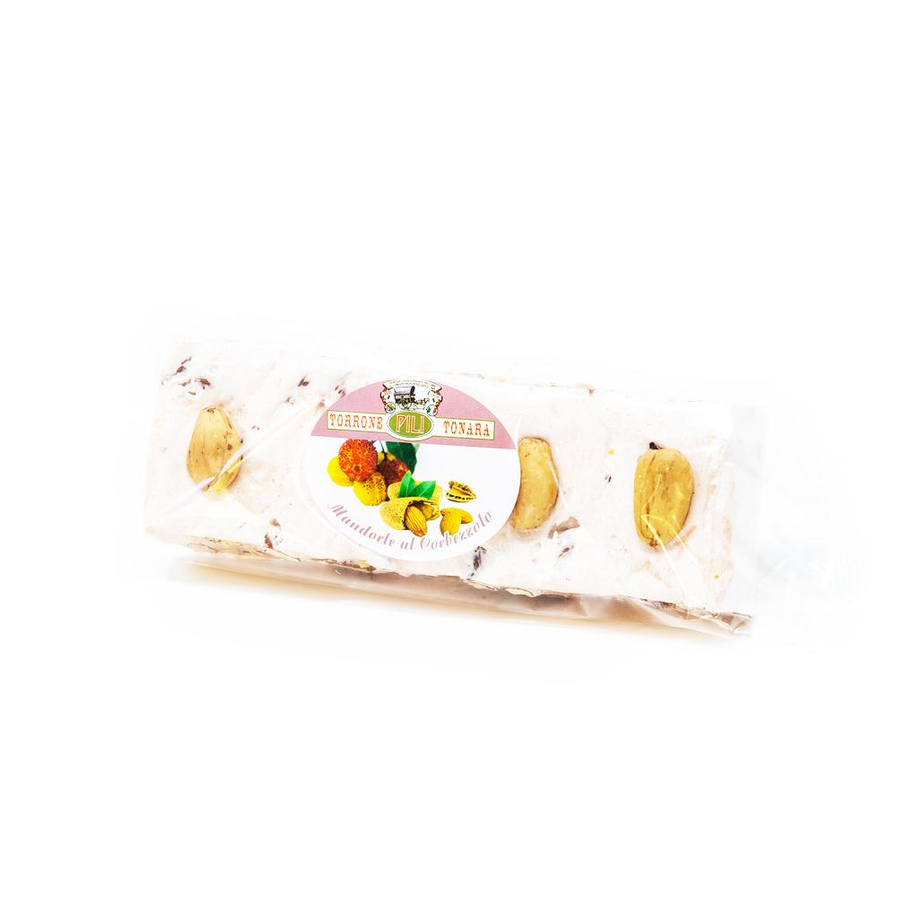 Stecca torrone mandorle e miele aromatizzato al corbezzolo a vista 200 g