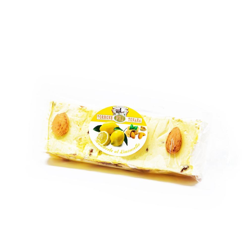 Stecca torrone mandorle e miele aromatizzato al limoncello a vista – 200 g