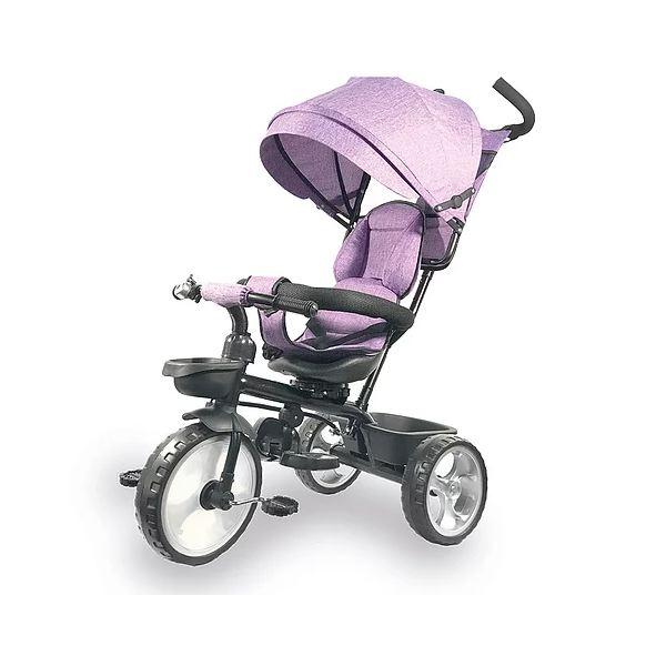 Triciclo da spingere per bambini IOS con parasole colore Rosa BIEMME