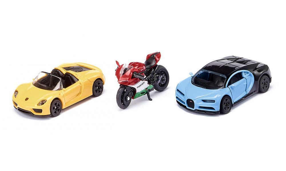 SIKU SPORTS CARS AND MOTORBIKE 6313
