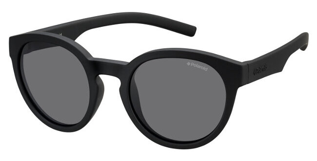 Polaroid - Occhiale da Sole Unisex Kids, Black Gradient/Crystal Grey Polarized PLD 8019/S YYV/Y2  C45