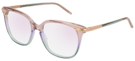 Pomellato - Occhiale da Vista Donna, Violet Shaded Light Blue/Anti-reflective Lenses PM0037O 003 F  C51
