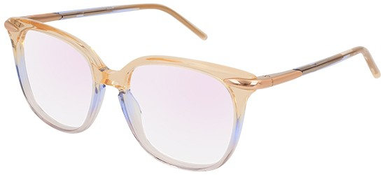 Pomellato - Occhiale da Vista Donna, Yellow Shaded Light Blue/Anti-reflective Lenses PM0037O 004 E  C51