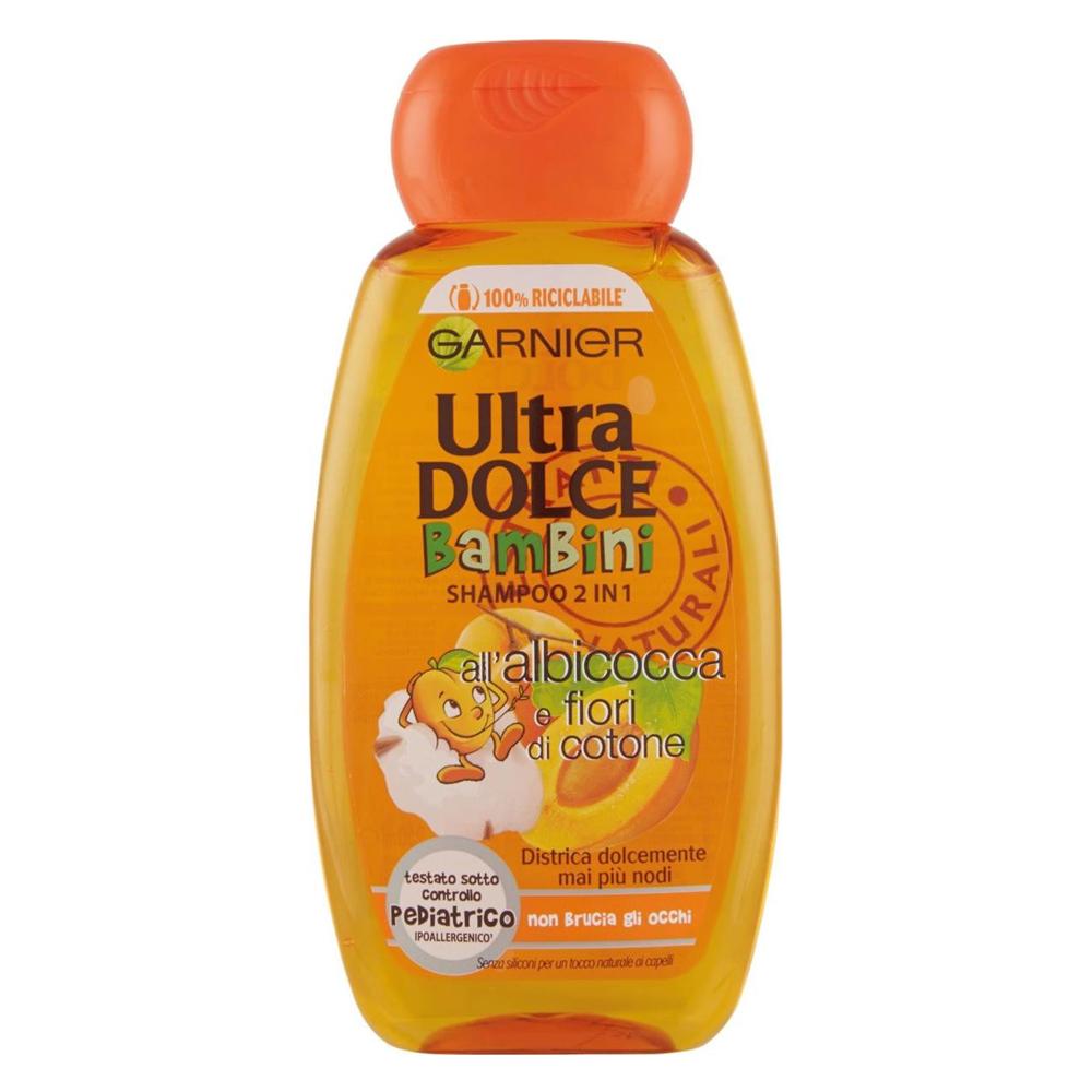 ULTRA DOLCE Shampoo bambini 2 in 1 all'Albicocca e Fiori di Cotone 400 ml