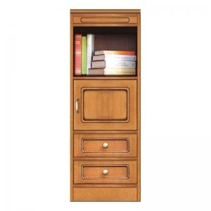 Mobile modulare componibile, libreria con 2 cassetti e anta, Arteferretto
