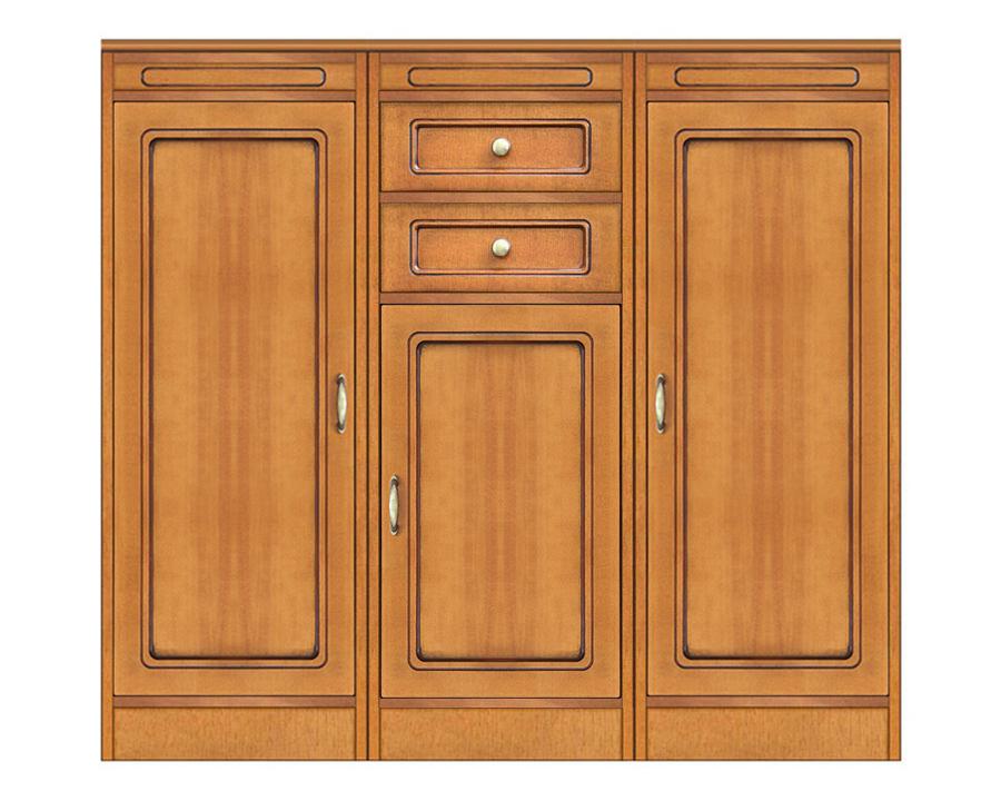 Composizione credenza modulare con 3 ante e 2 cassetti, Arteferretto