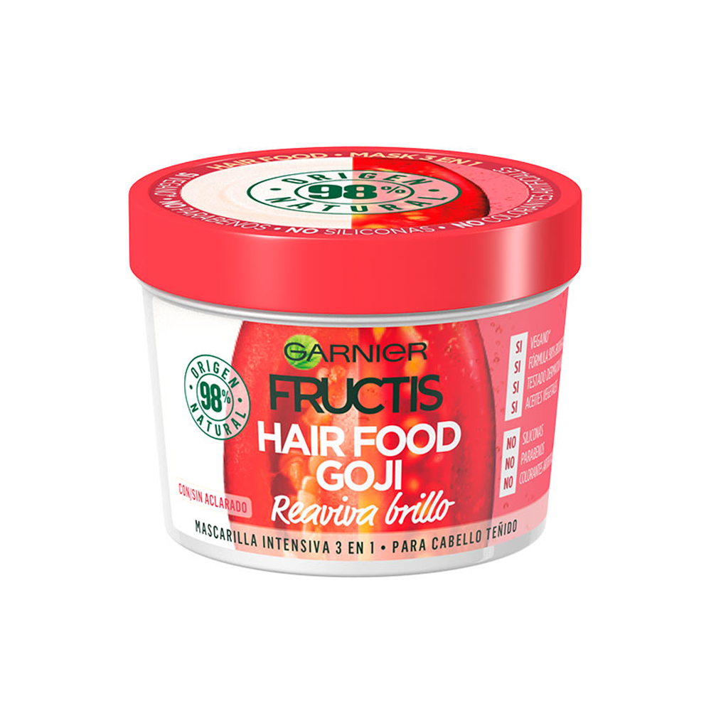 FRUCTIS Maschera Hair Food Bacche di Goji colore brillante 390 ml