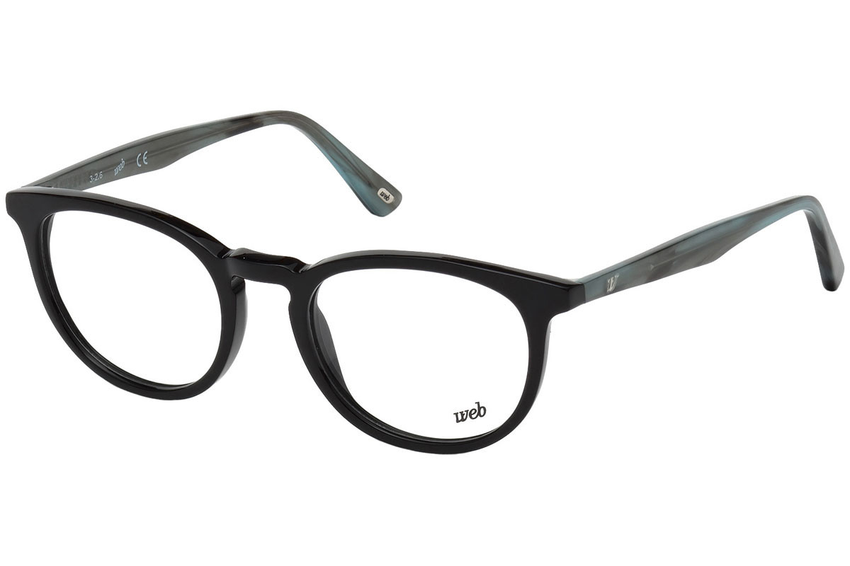 Web - Occhiale da Vista Uomo, Shiny Black WE5181-N A01 C49