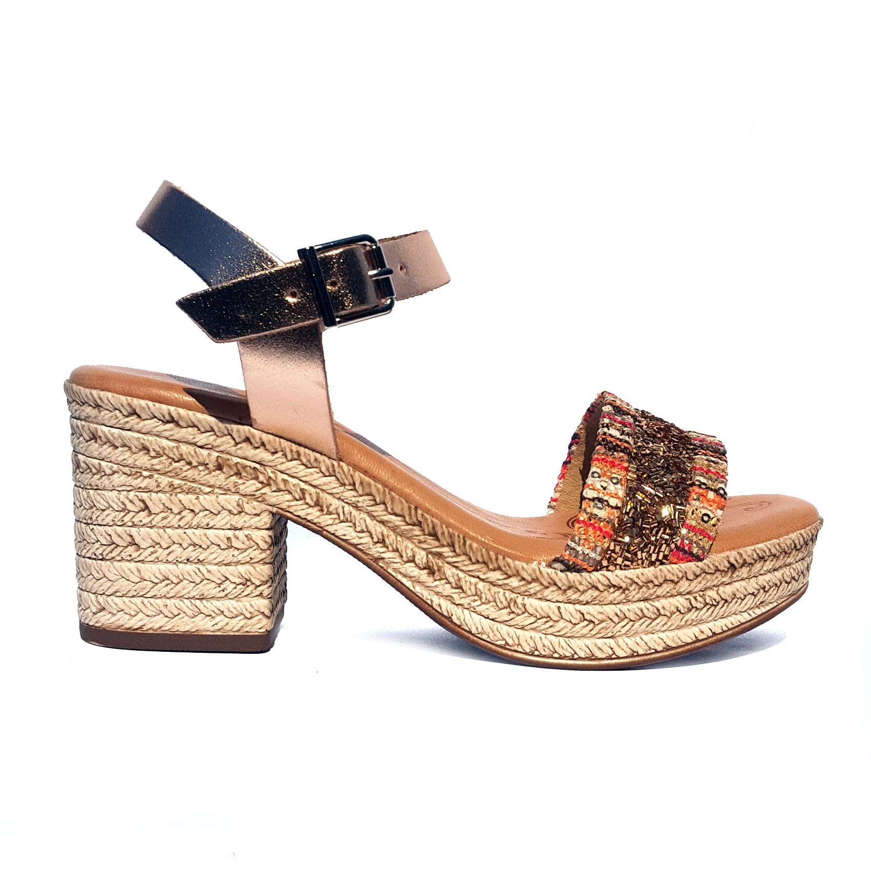 Sandalo bronzo/fantasia Raquel Perez
