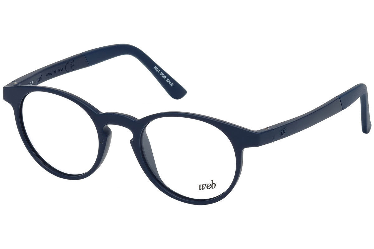 Web - Occhiale da Vista Unisex, Shiny Blue WE5186 090 C48