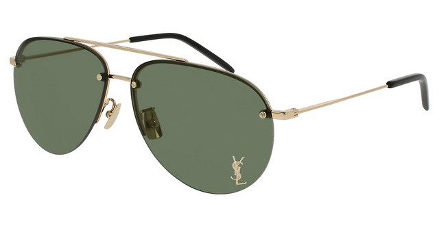 Yves Saint Laurent - Occhiale da Sole Unisex, Classic 11 M, Gold/Green Shaded 003  C59