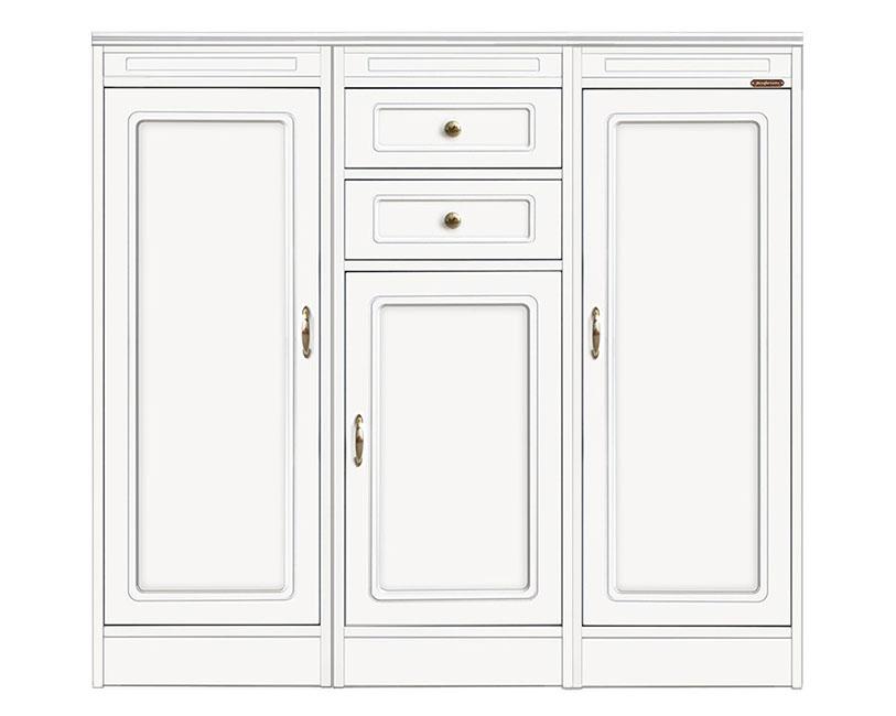 Composizione credenza modulare laccata con 3 ante e 2 cassetti, Arteferretto