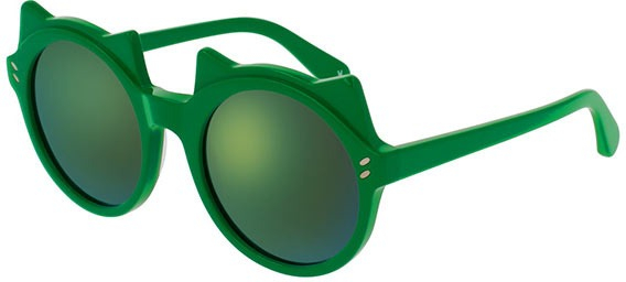 Stella McCartney - Occhiale da Sole Unisex Kids, Green/Green Shaded SK0017S  003  C48