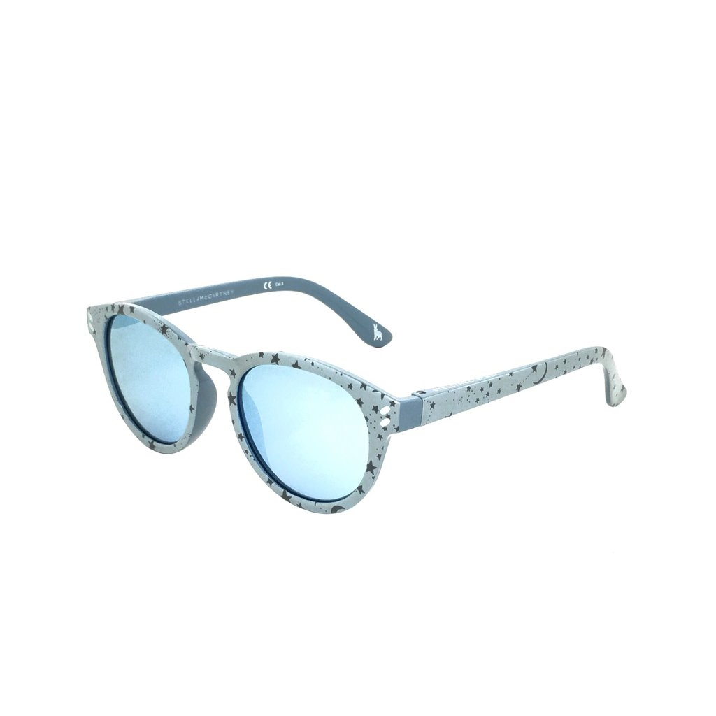 Stella McCartney - Occhiale da Sole Bambina, Spotted Grey/Light Blue Shaded SK0020S  007  C46