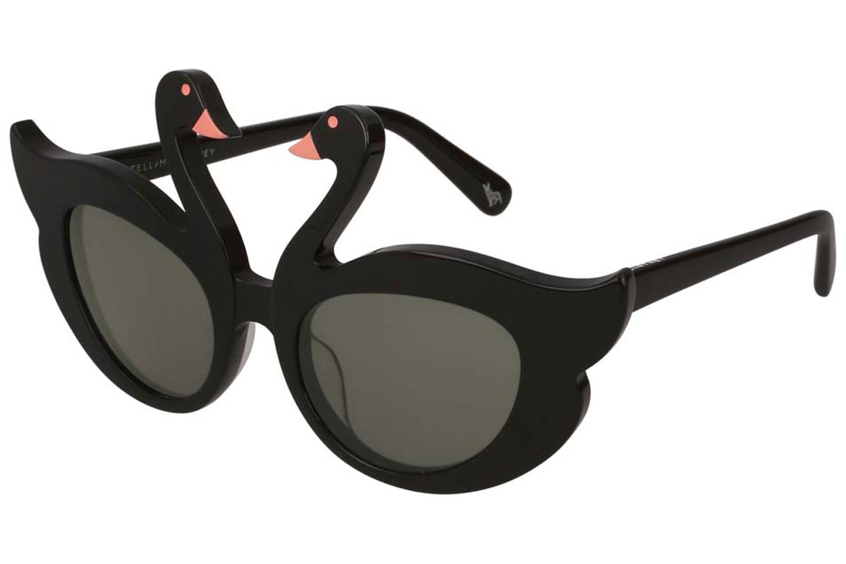 Stella McCartney - Occhiale da Sole Bambina, Black/Grey Shaded SK0031S  001  C47