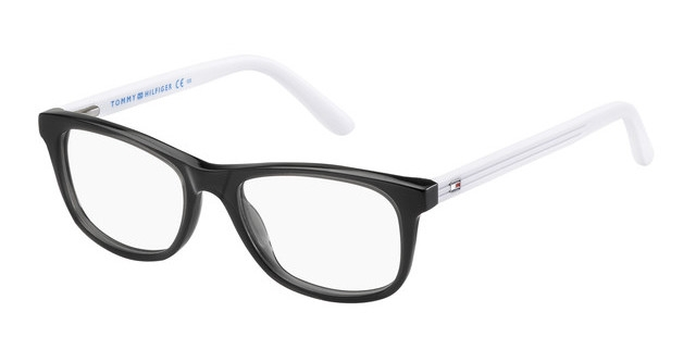 Tommy Hilfiger - Occhiale da Vista Unisex Kids, Matte Black/White TH 1338 H84  C46