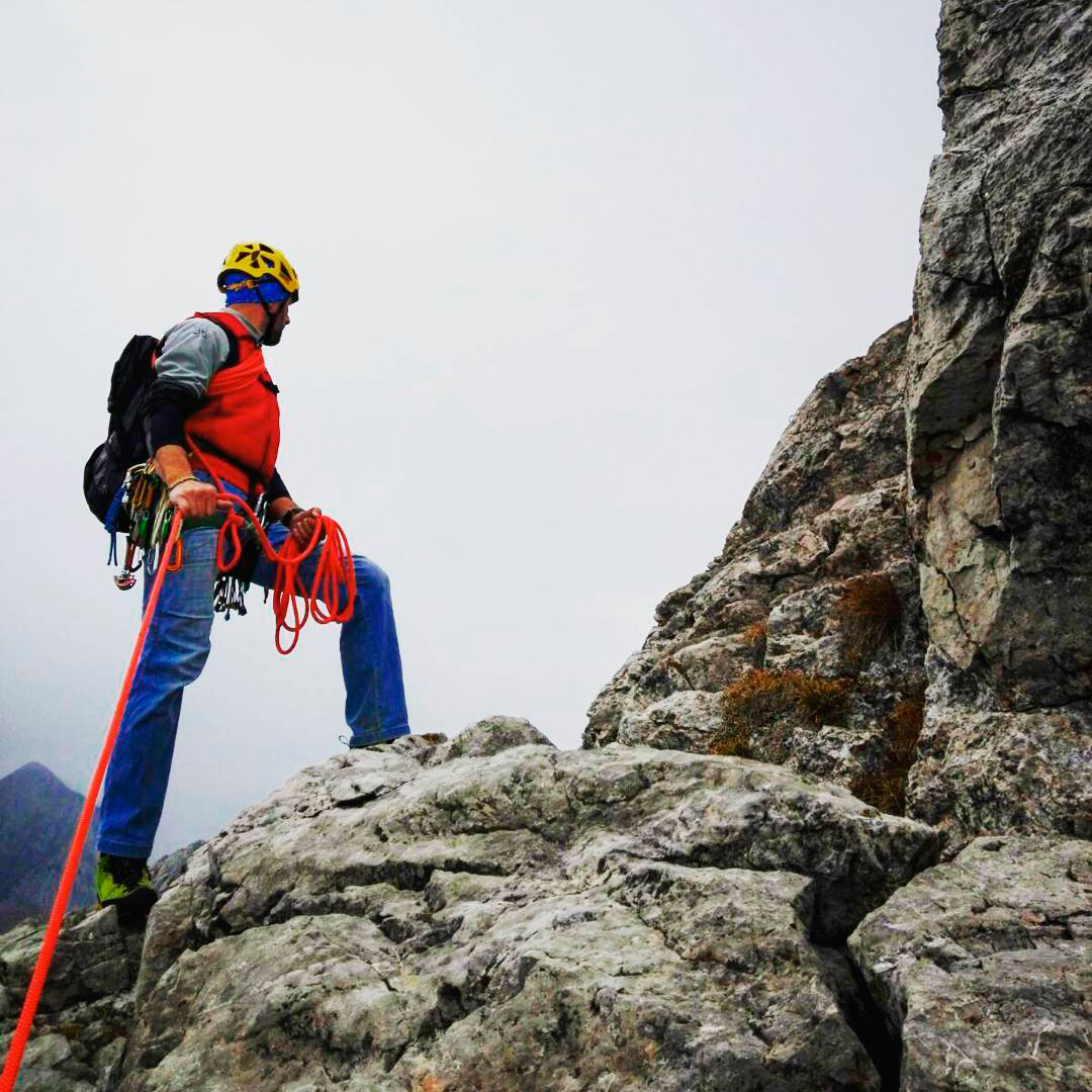 Cristian Cinghio Candiotto, Italian mountain guide and Garmont's ambassador