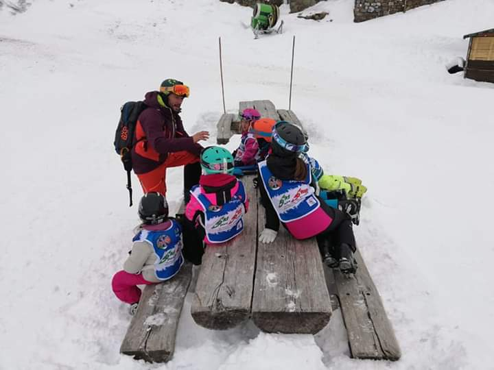 Winter camp for kids on the Italian Alps