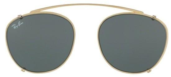 Ray-Ban - Clip-on Aggiuntivo per Occhiale Uomo, Aged Gold/Grey RX6355C 2500/71 C50