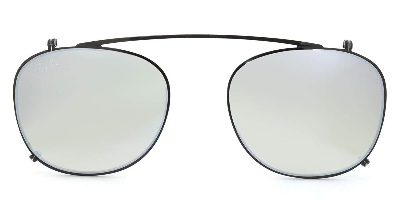 Ray-Ban - Clip-on Aggiuntivo per Occhiale Uomo, Matte Black/Grey RX6317C 2509/B8 C51