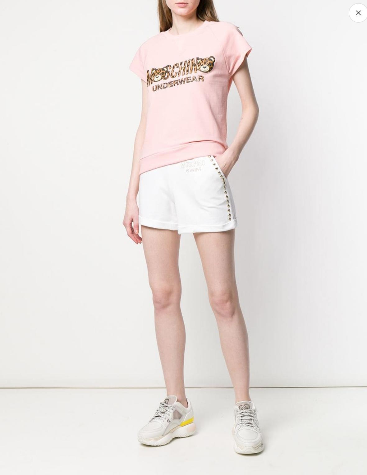 Shorts con borchie Moschino Swim