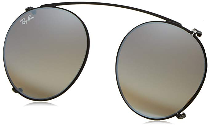 Ray-Ban - Clip-on Aggiuntivo per Occhiale Uomo, Black/Grey Gold Mirror RX2180V 2509/B8 C47