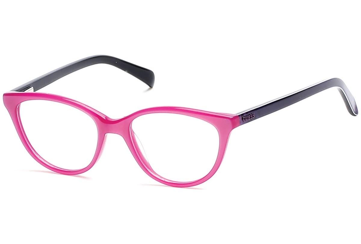 Guess - Occhiale da Vista Bambina, Shiny Violet GU 9159 081 C47