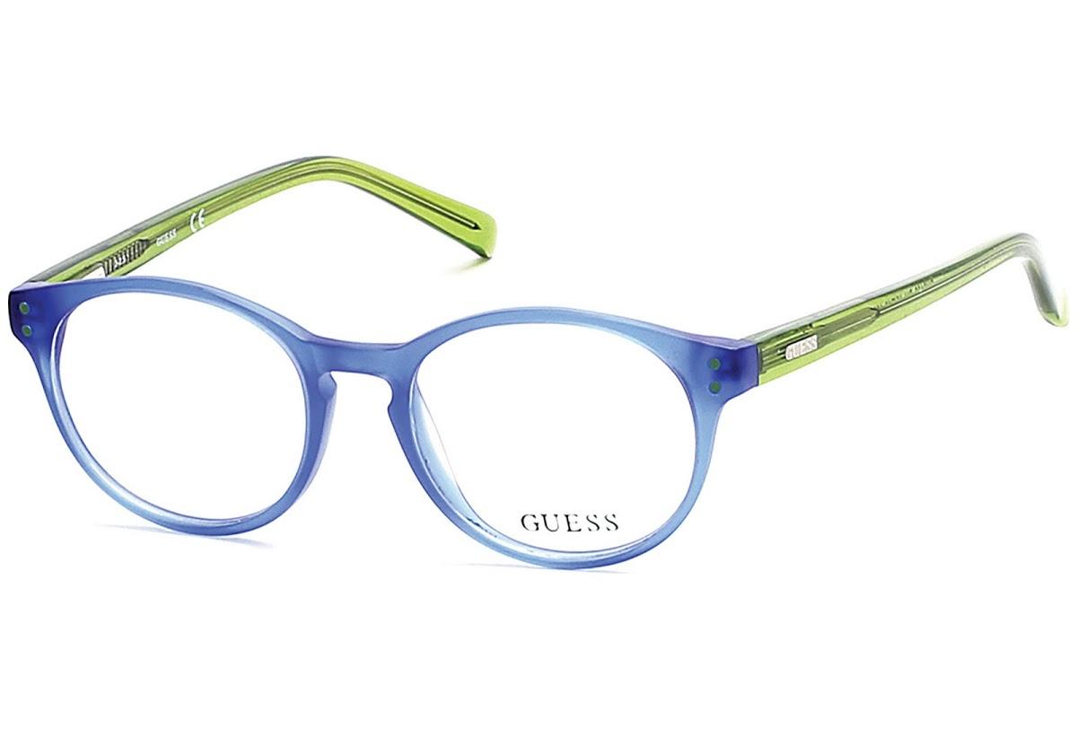 Guess - Occhiale da Vista Bambino, Matte Blue/Green  GU 9160 091 C45
