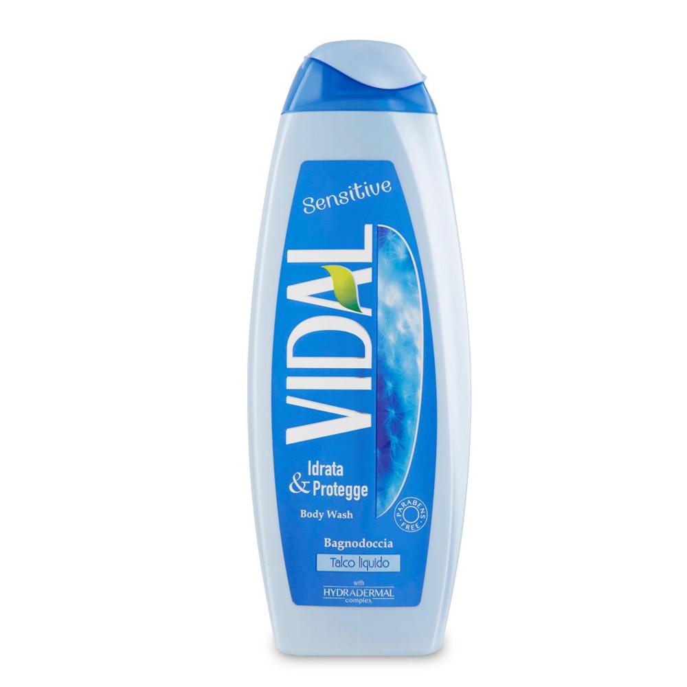 VIDAL Bagno schiuma sensitive Talco liquido 500 ml