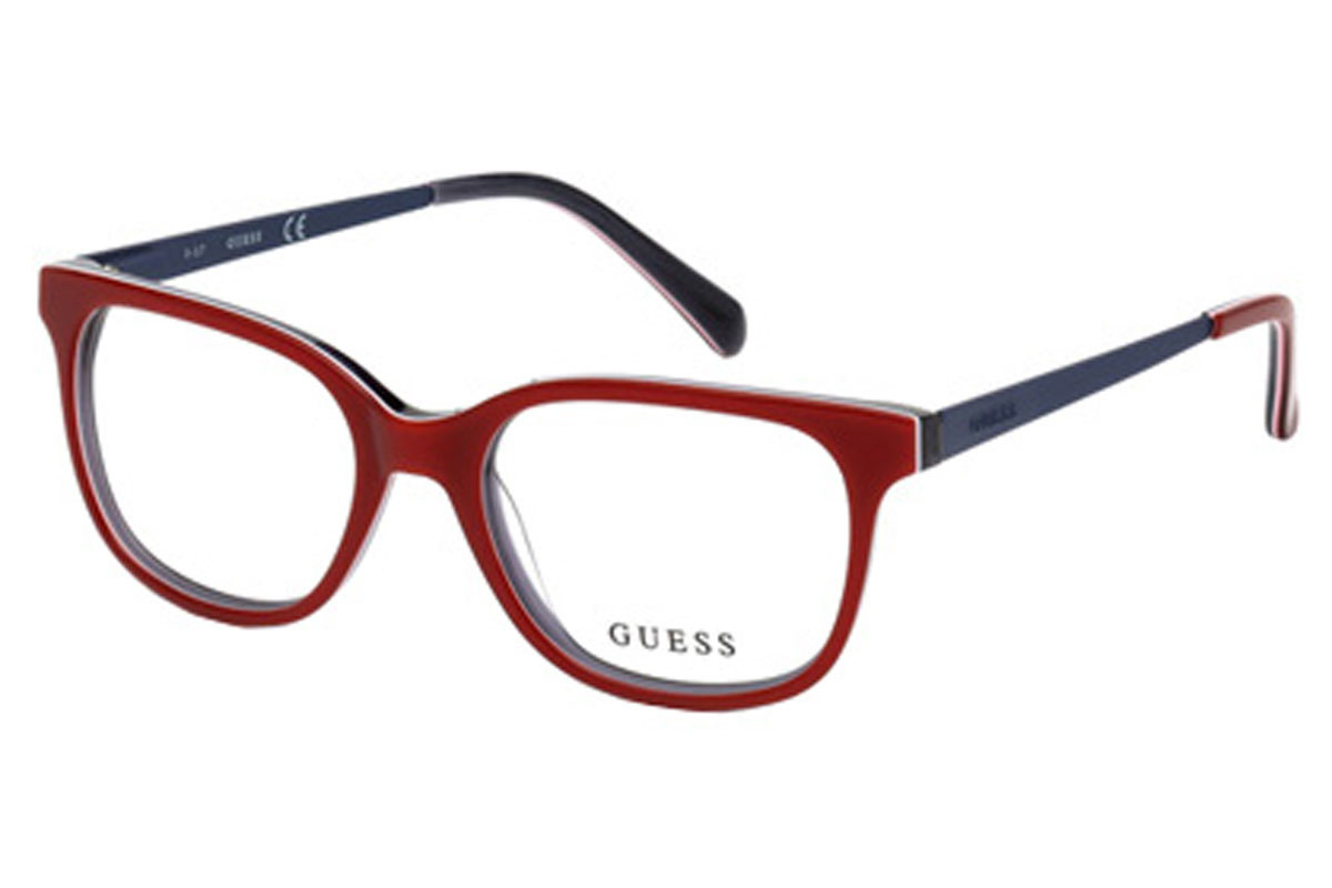Guess - Occhiale da Vista Unisex Kids, Matte Red/Blue  GU 9175 068 C48