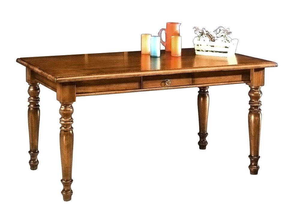 Tavolo rettangolare fisso da 160 x 85 cm in stile