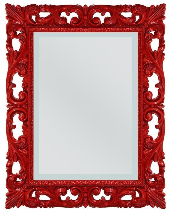 Specchiera Venezia Rosso brillante