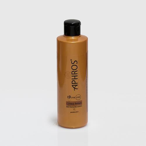 Crema solare protezione bassa SPF 9 Aphros 250 ml